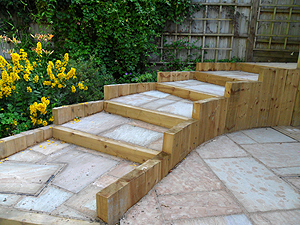 wooden garden sleepers